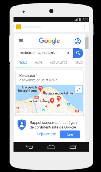 Illustration restaurant saint denis smartphone