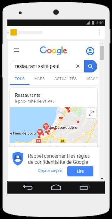 Illustration restaurant saint paul smartphone