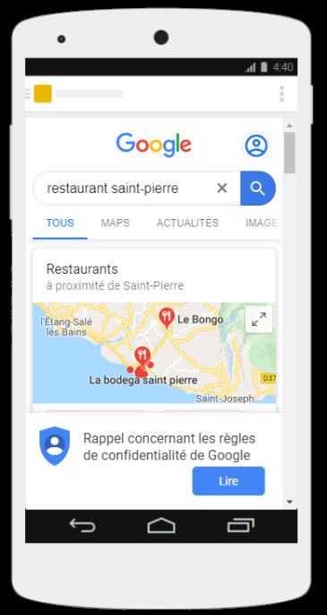 Illustration restaurant saint pierre smartphone