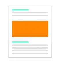 Illustration Rédaction page web